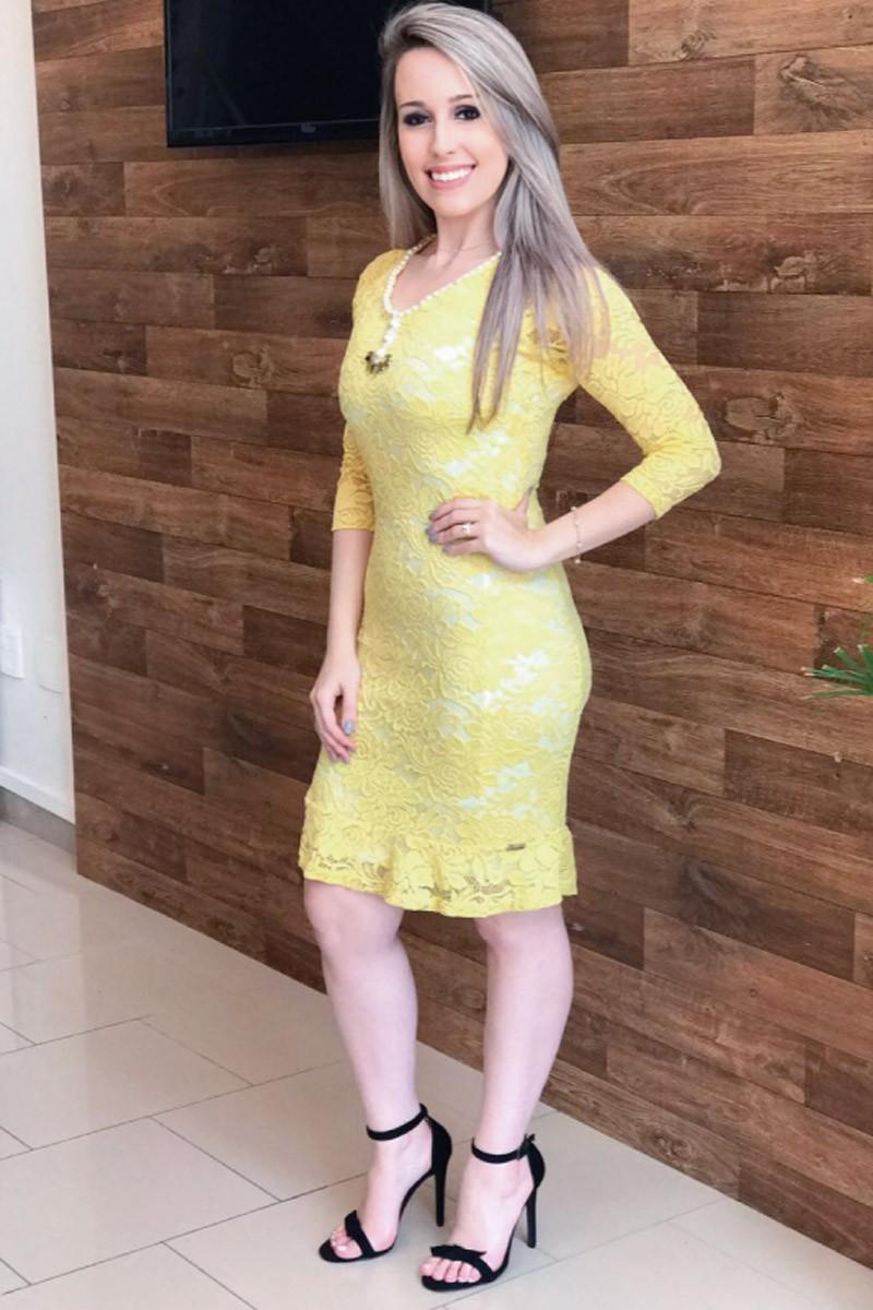 Vestido amarelo Carla SC5