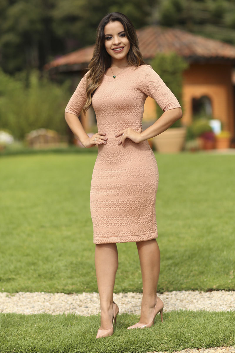 Vestido Graziele Rosa 5492