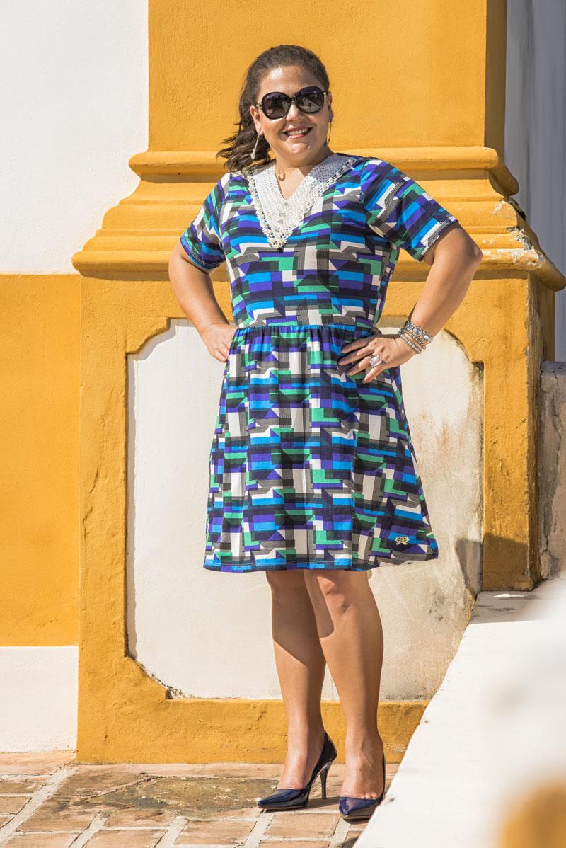 Vestido Azul GGreyce -  GG112