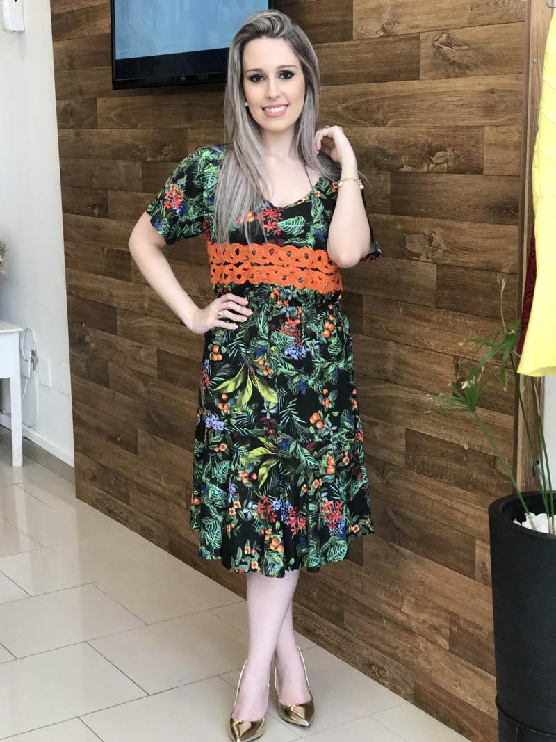 Vestido Joana Saia Bella SB125