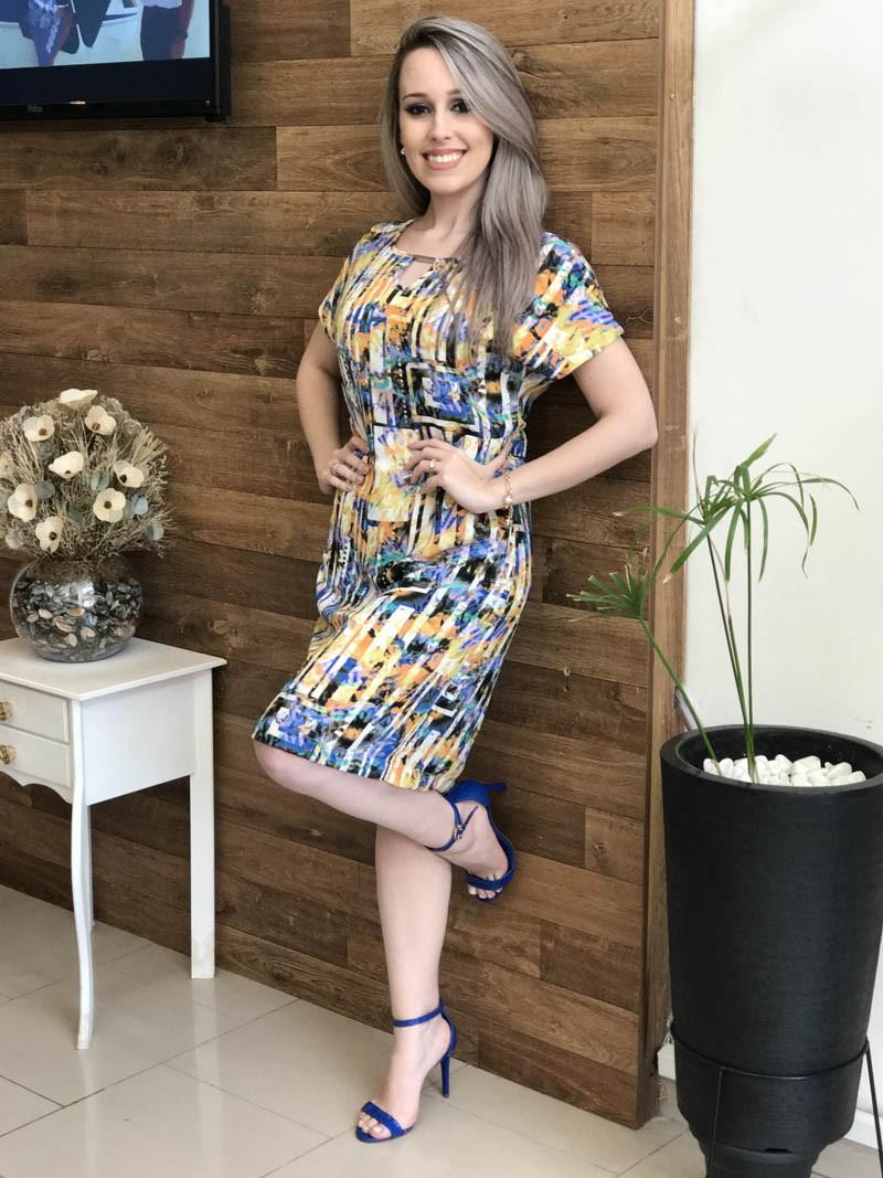 Vestido Angelina Saia Bella SB845