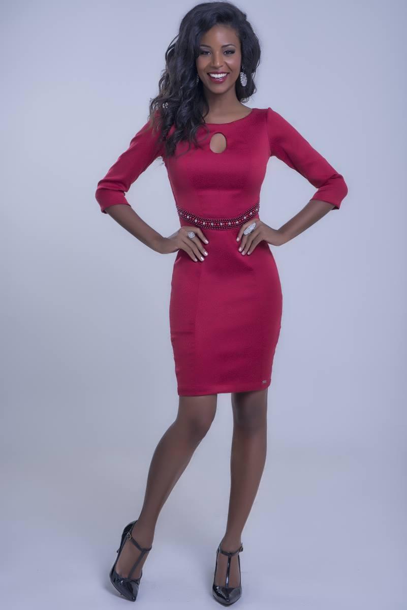 Vestido Mulata Café vermelho 3087