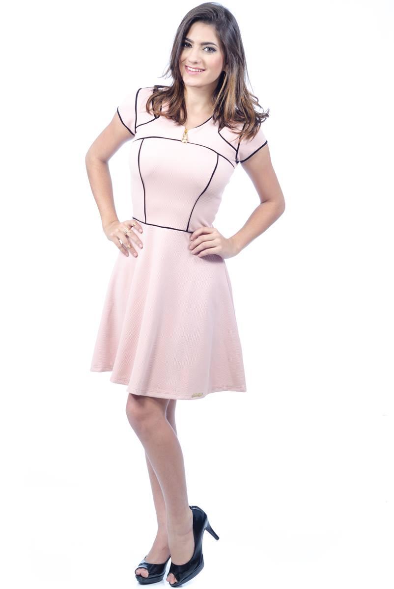 Vestido Mulata Caf� Cl�ssico Rose 100010