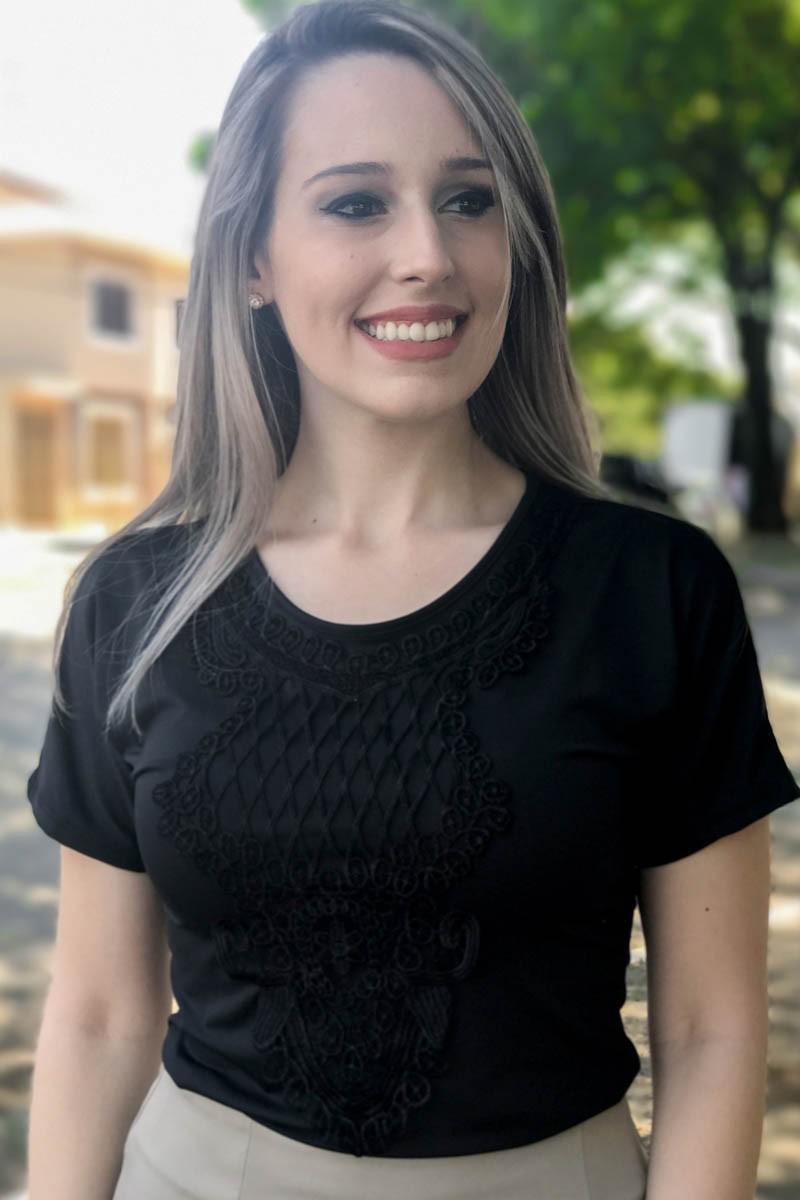 Blusa Milena Preta Saia Bella - SB150
