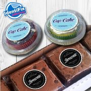 Kit 50 Etiquetas Redondas para Cupcakes e Brownies - 5cm