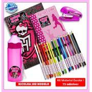 Kit1 Escolar - Meninas 72 Etiquetas Adesivas