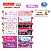 Kit Identifix 01 Meninas - 19 Adesivos