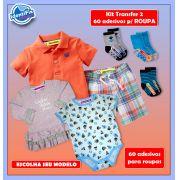 Kit Transfer 2 - 60 Adesivos para roupas