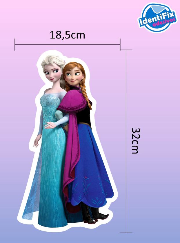 Kit Decorativo Quarto - Frozen  - Identifix Adesivos Personalizados