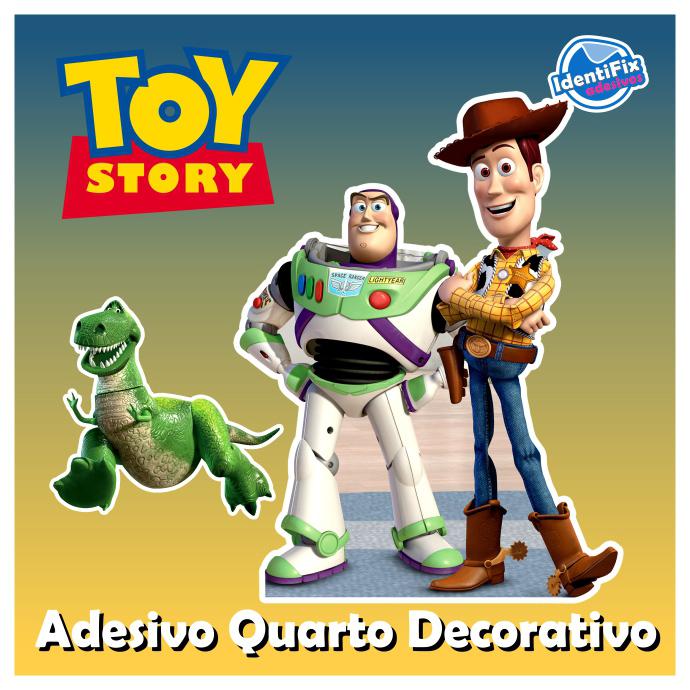 Kit Decorativo Quarto - Toy Story  - Identifix Adesivos Personalizados