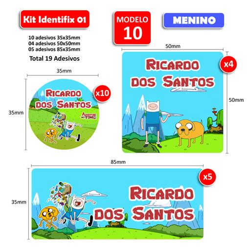 Kit Identifix 01 Meninos - 19 Adesivos  - Identifix Adesivos Personalizados