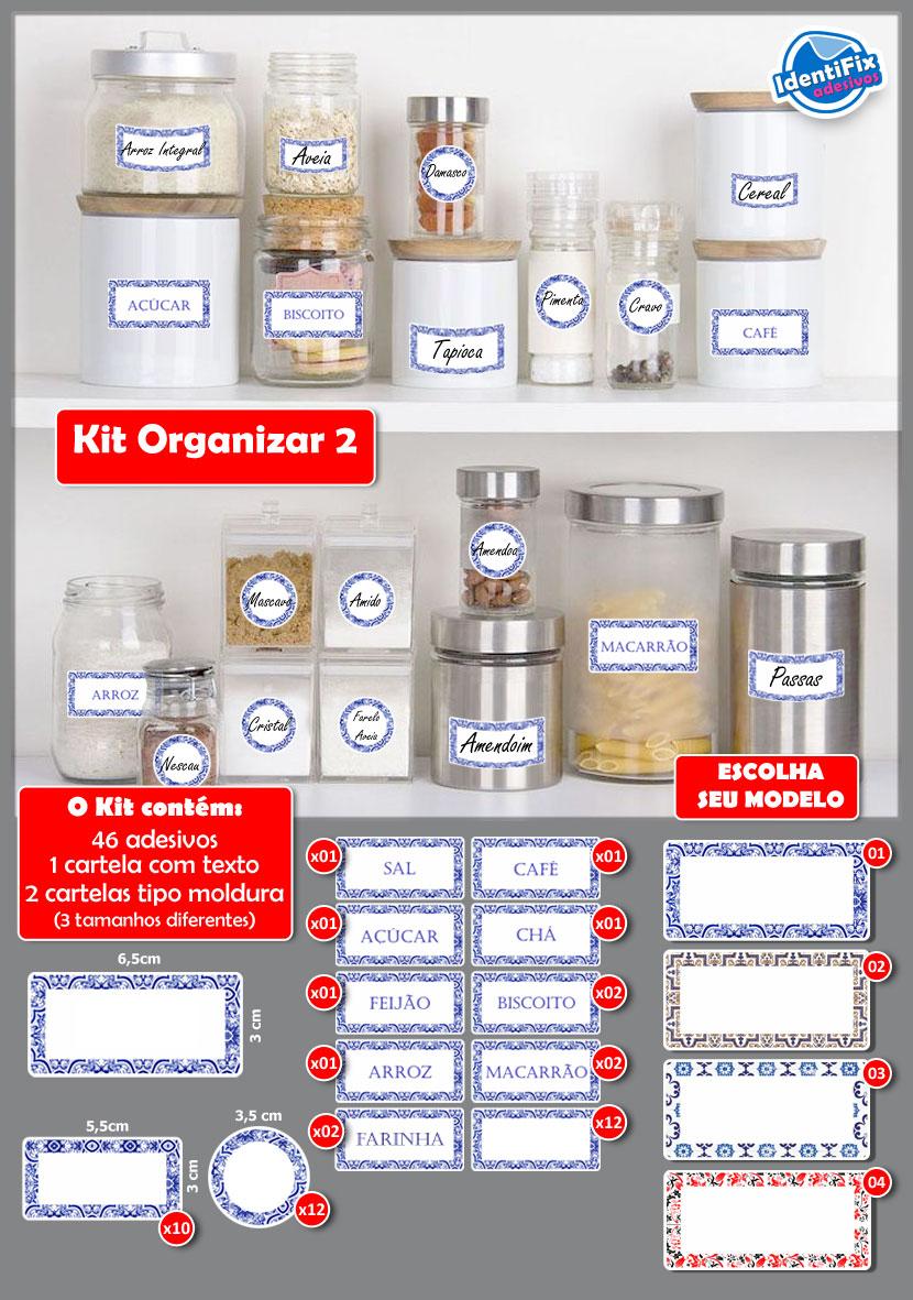 Kit Organizar 02  - Identifix Adesivos Personalizados