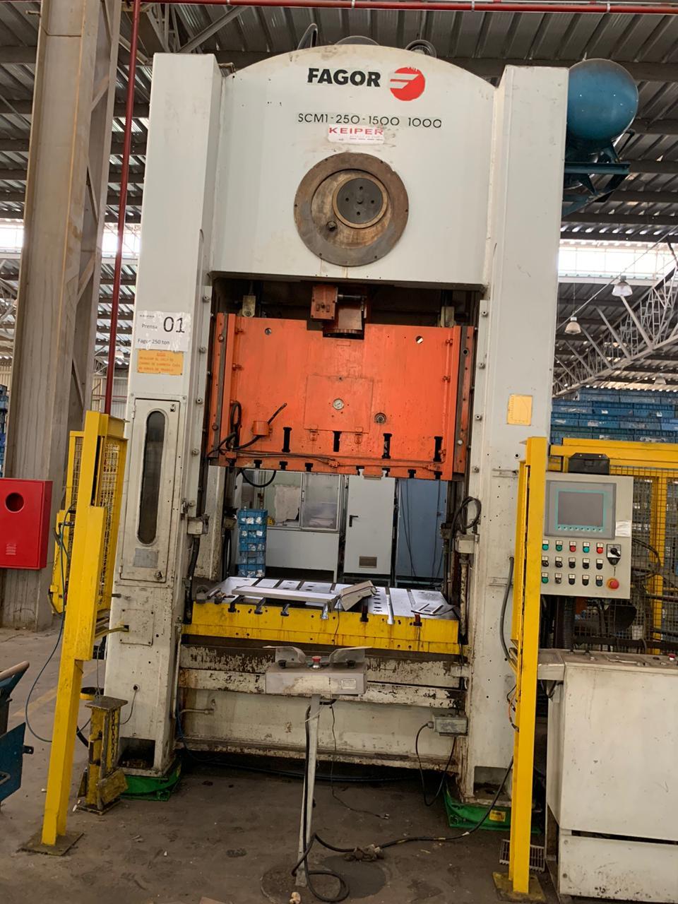 Prensa Excêntrica Fagor 250 ton tipo H  #5- 1202  - AEG Comercial
