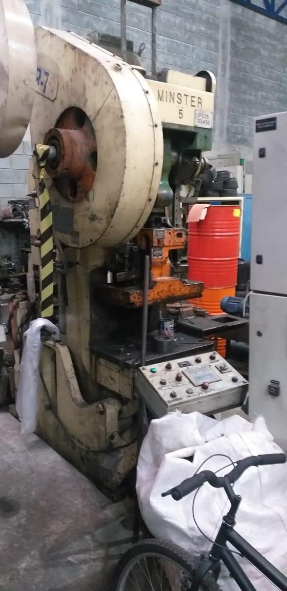 Prensa Excêntrica Inclinável marca Minster capacidade 70 ton   - AEG Comercial