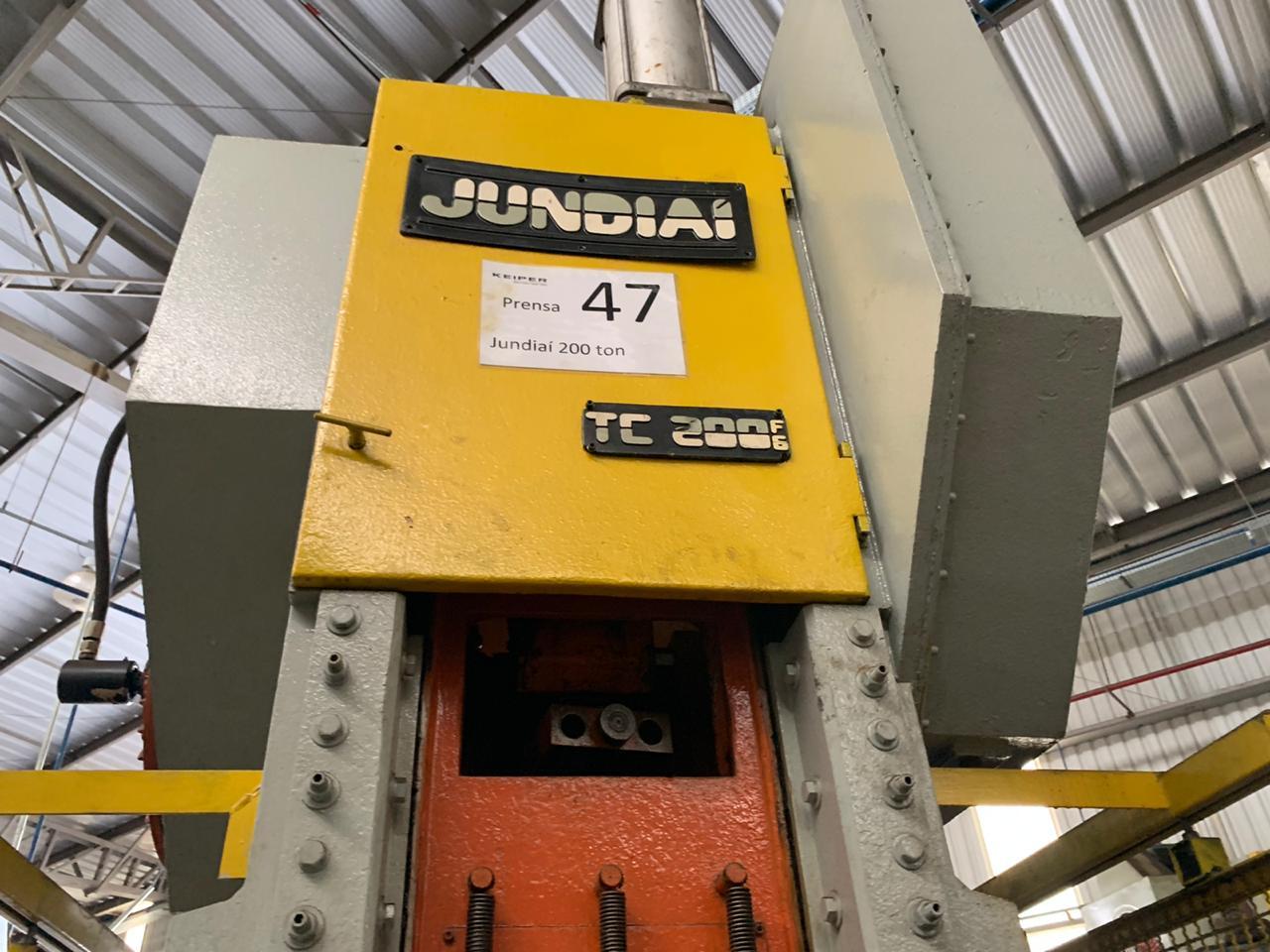Prensa Excêntrica marca Jundiaí cap 200 ton #28-1247  - AEG Comercial