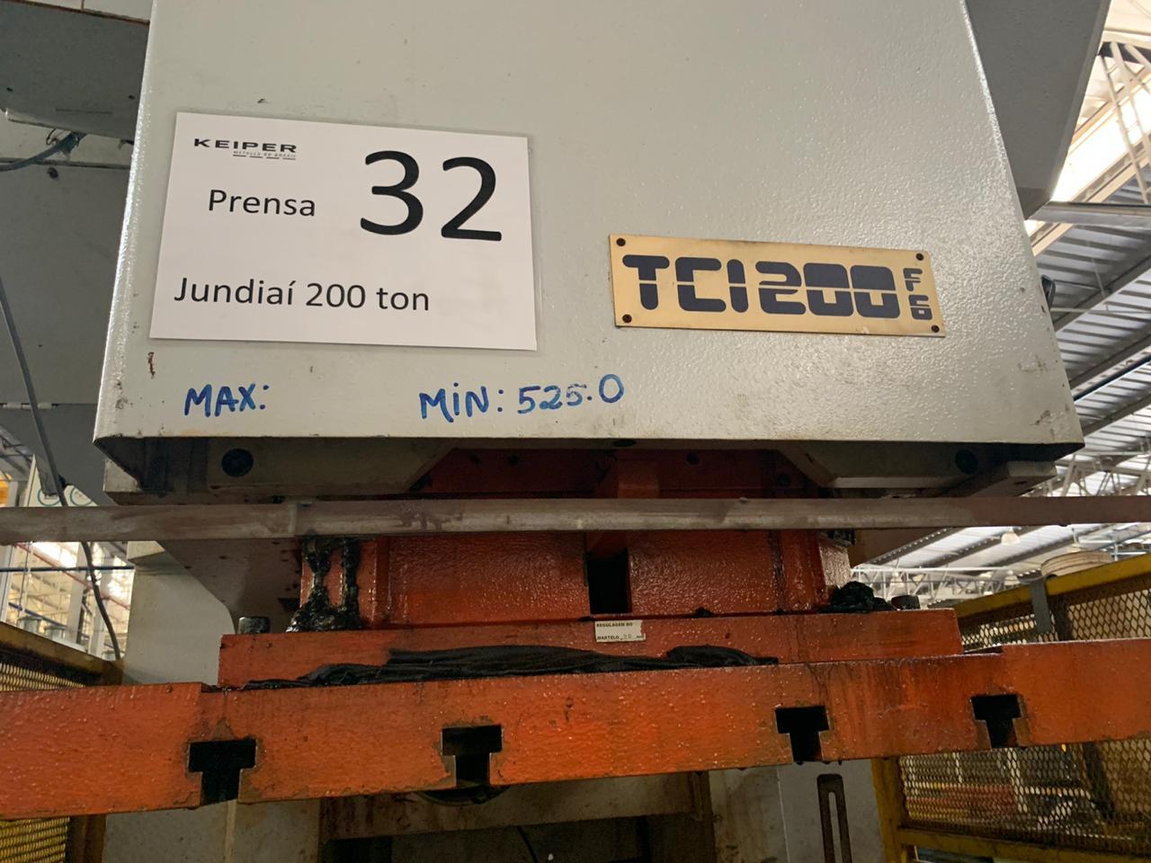 Prensa Excêntrica tipo C jundiaí 200 ton #9-1232  - AEG Comercial