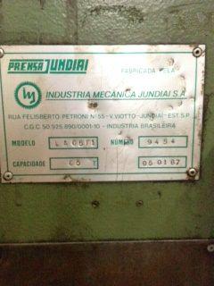 Prensa Rapida Jundiaí 65 ton LA65F1  - AEG Comercial