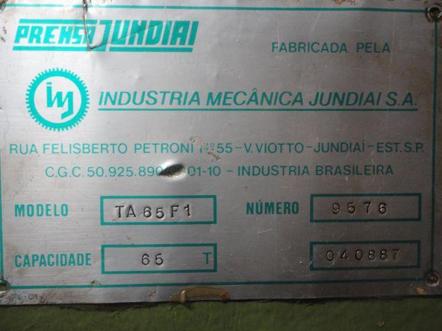 Prensa Rápida Jundiaí 65 ton TA65F1  - AEG Comercial