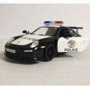 Porsche 911 (Polícia) - Preto - Escala 1:32