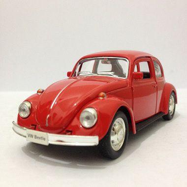 Fusca Vermelho Volkswagen  - Escala 1:32