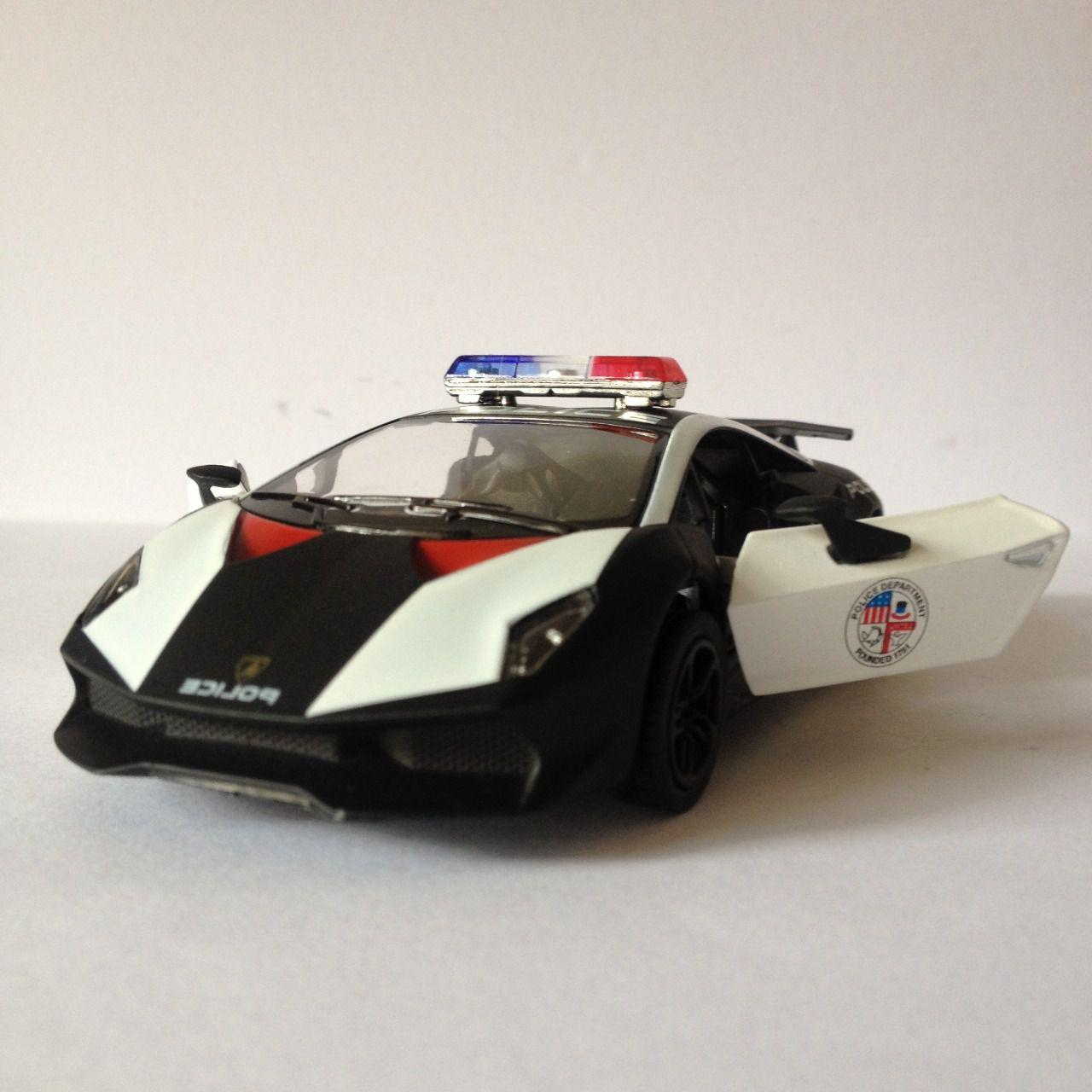 Lamborghini Sesto Elemento (Polícia) - Preto - Escala 1:32