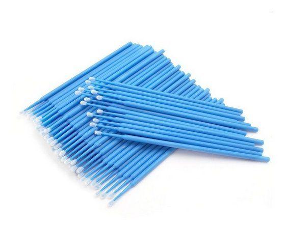 100 Pincéis Microbrush para Remoção de Cílios - Tam G