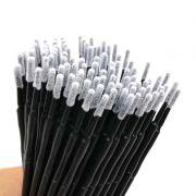100 Pincéis Microbrush P/ Remoção De Cílios - Ponta Larga