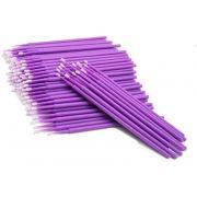 100 Pincéis Microbrush para Remoção de Cílios - Tam P