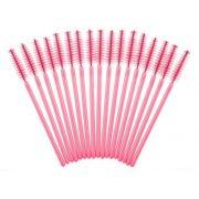 Escovinhas Para Pós Alongamento De Cílios Rosa - 50 Unidades
