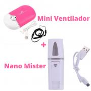 Mini Ventilador + Nano Mister