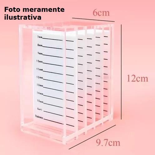 Box Porta Paleta de Acrílico TudoBuni - 5 paletas