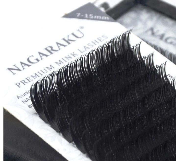 Cílios Nagaraku Mix Tamanhos ( 7 Ao 15mm) Espessura 0.07D