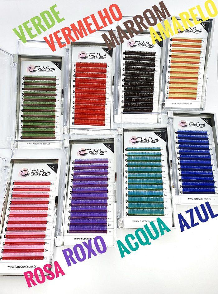 Cílios TudoBuni Coloridos - 0.07 CC Mix