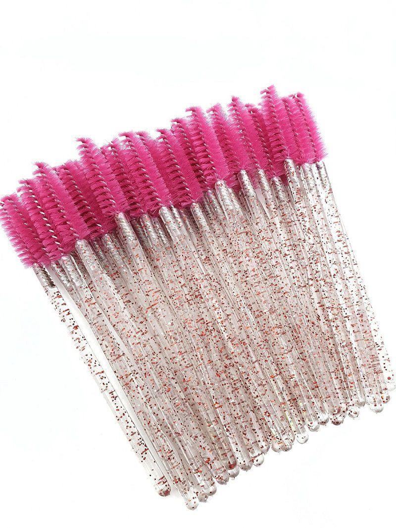 Escovinhas para Extensão de Cílios com Glitter - 50un