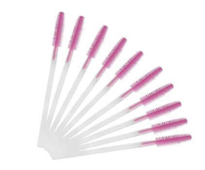 Escovinhas para Alongamento/Extensão de Cílios Silicone - 50 un