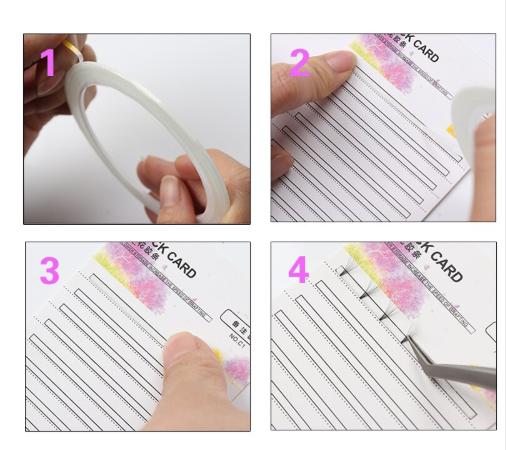 Paleta Stick Card para Armazenar Fans Cristalizados