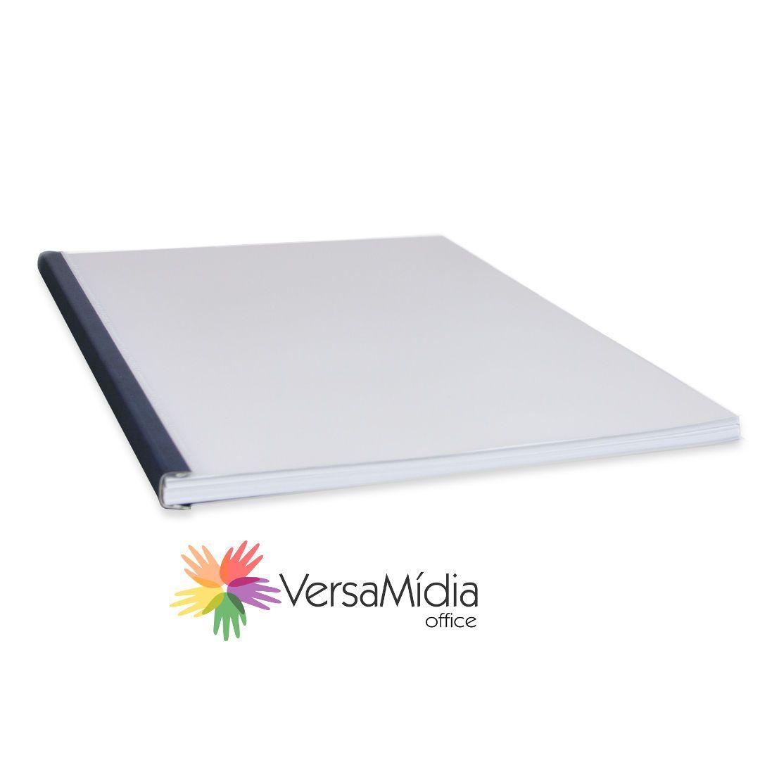 Capa Encadernação Térmica Steelmat PVC Fosco Canaleta  Aço  cx 25un - cód. 41000