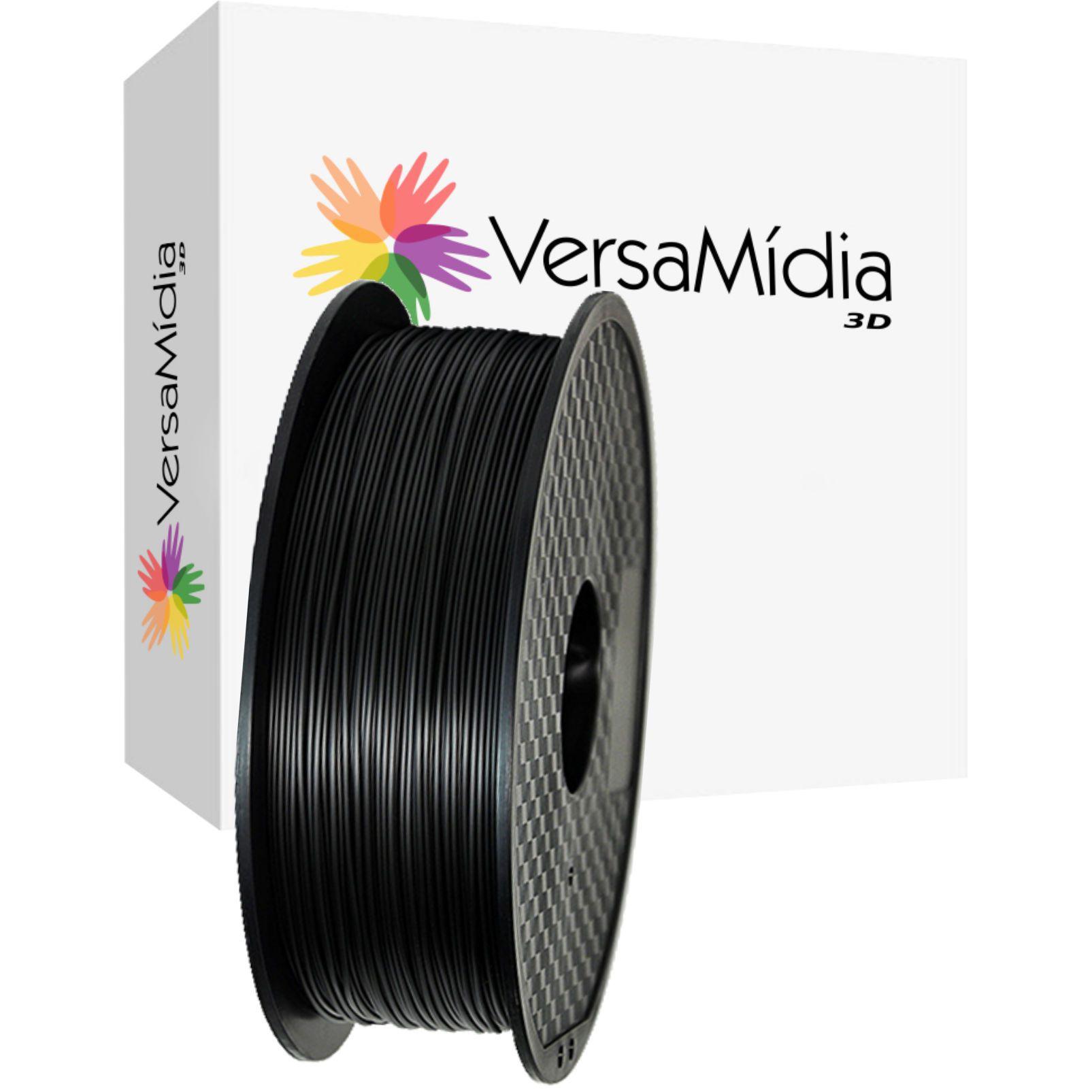 Filamento PETG Cores Opacas  1.75mm 1Kg Bobina Black Spool  Impressão 3D  - 11523/11524
