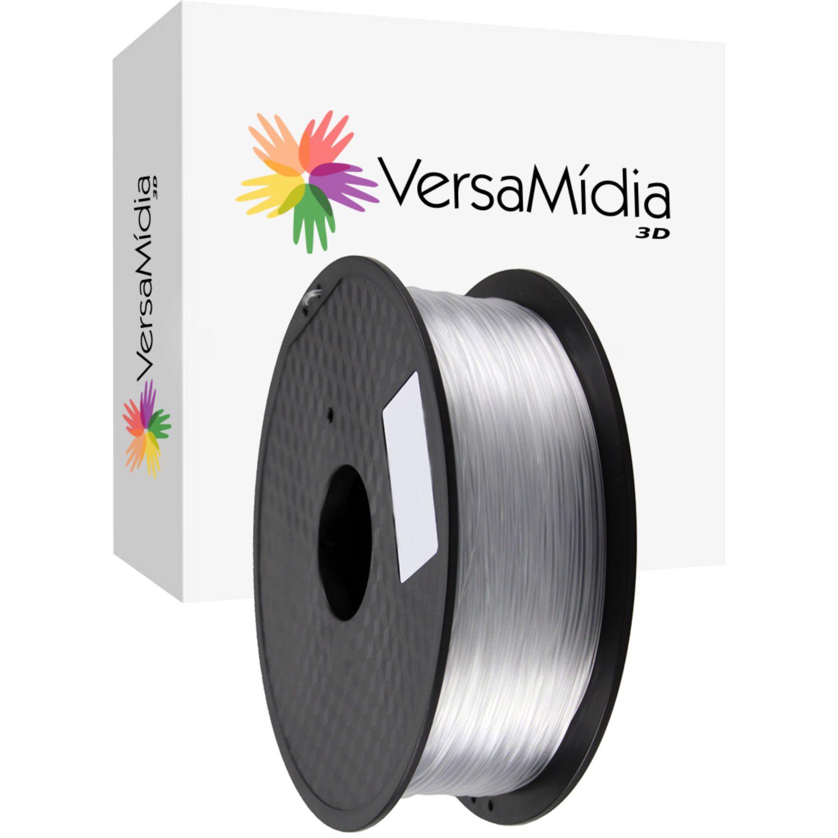 Filamento PETG Transparente Natural  1.75mm 1Kg Bobina Black Spool  Impressão 3D - 11522