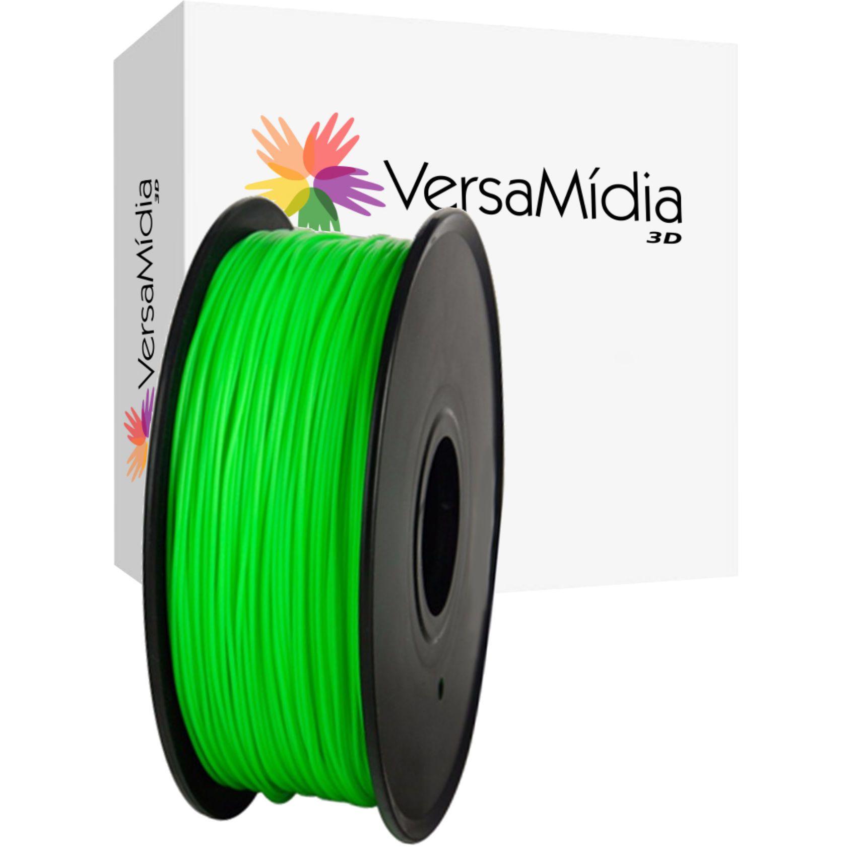 Filamento PLA Fluorescente VersaMídia 3D Premium  1.75mm Black Spool