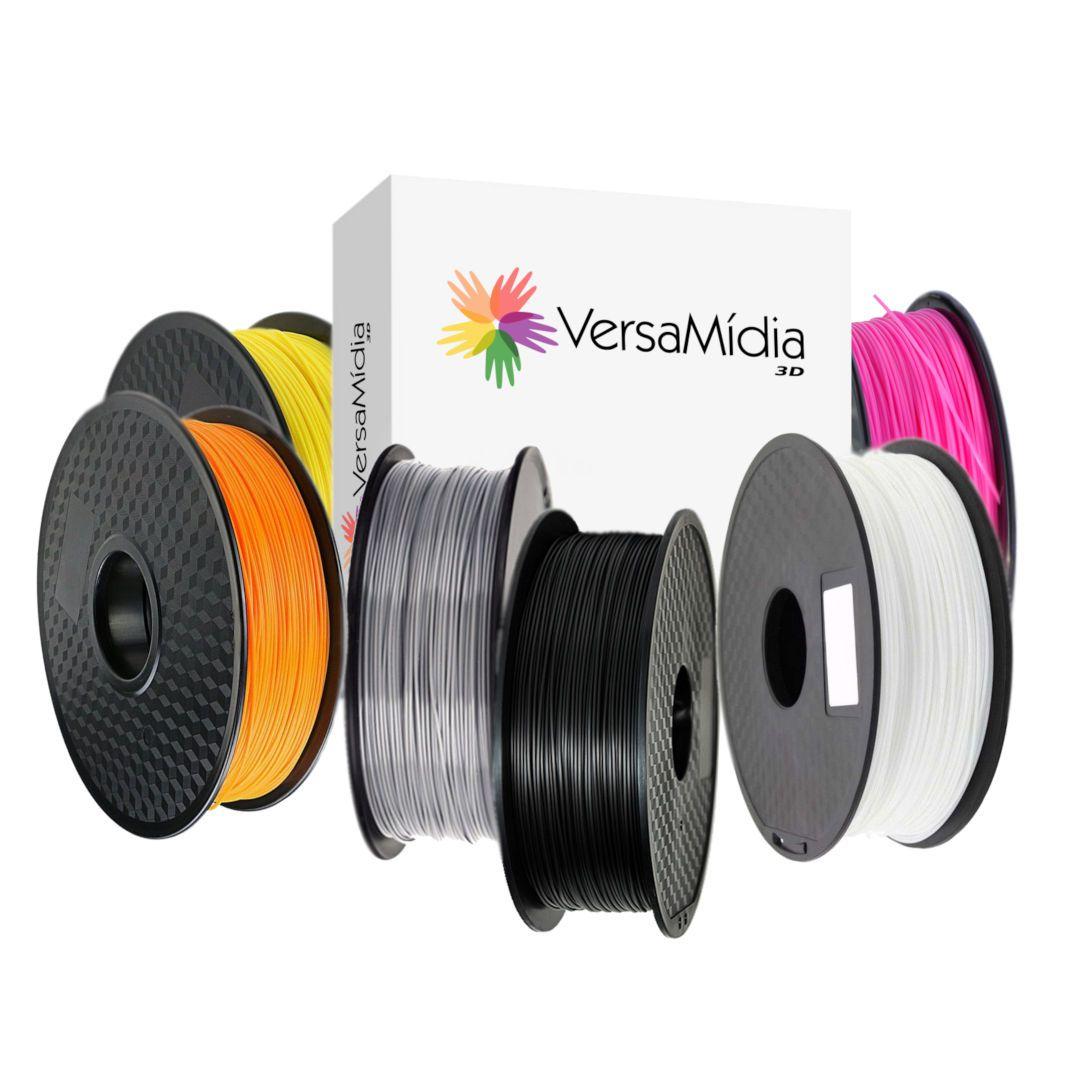 Filamento PLA VersaMídia 3D Premium  1.75mm Black Spool / cód. 11502 a 11530