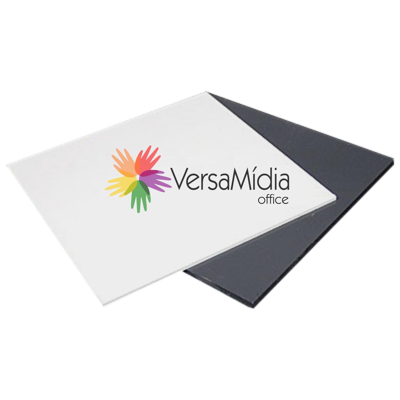 Placas / Cartões de PVC Autoadesivas Dupla Face Multiuso VersaMídia 50un. cód. 13000