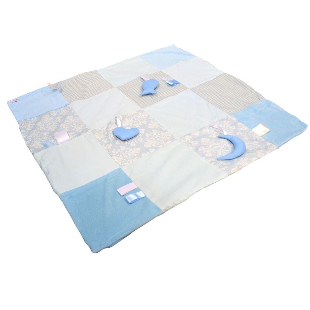 Manta Patchwork Azul - BBtrends
