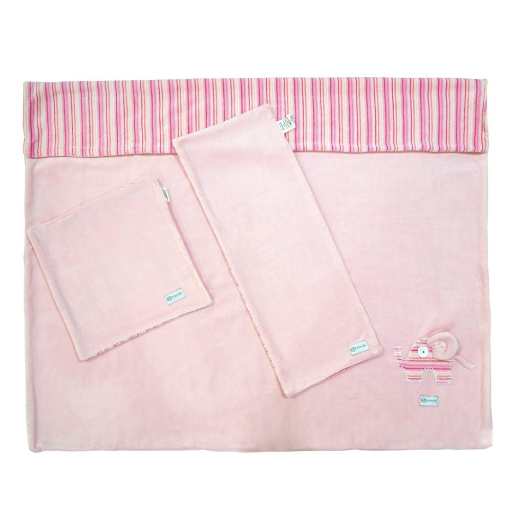 Kit Soft  - 3 Peças Elefante Rosa - BBtrends