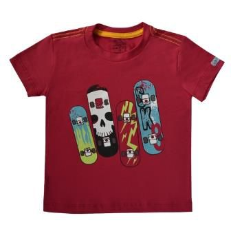 Camiseta Funny Skate Framboesa