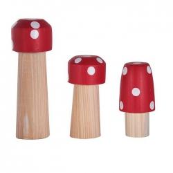 Jogo de 3  Cogumelos Palito