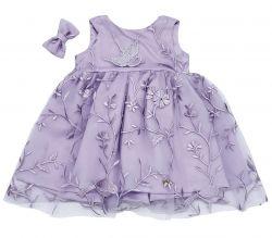 Vestido Claire Tule bordado - Lavanda