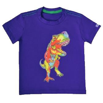 Camiseta Funny Dinossauro Azul Escuro