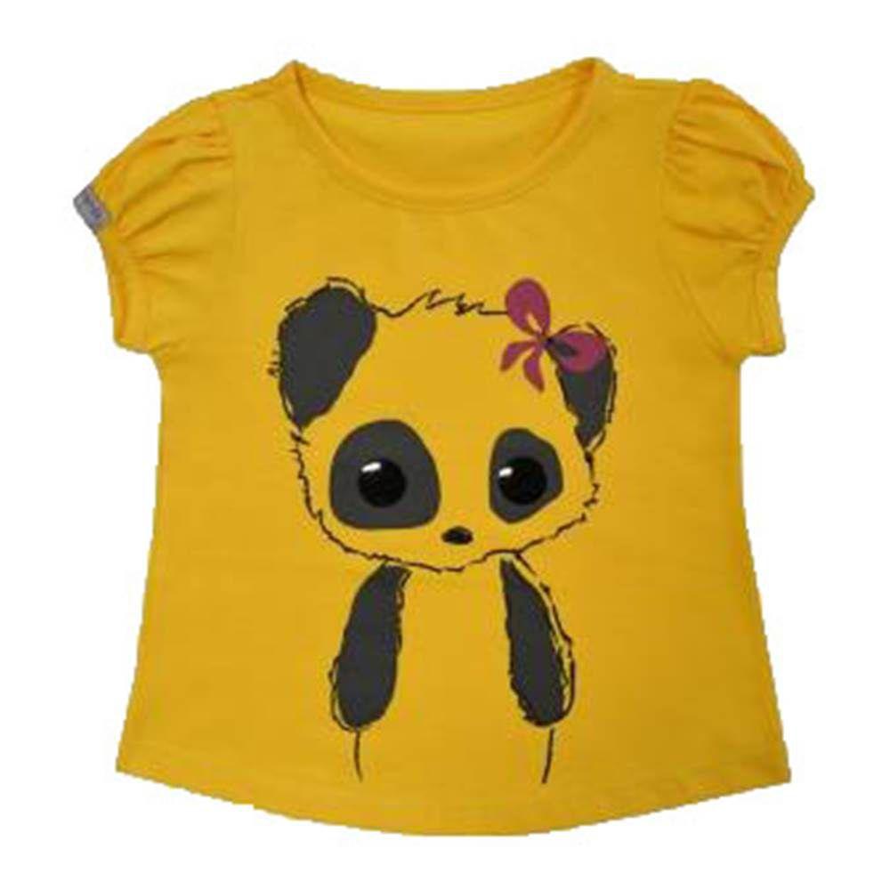 Camiseta - Funny - Panda - Girassol
