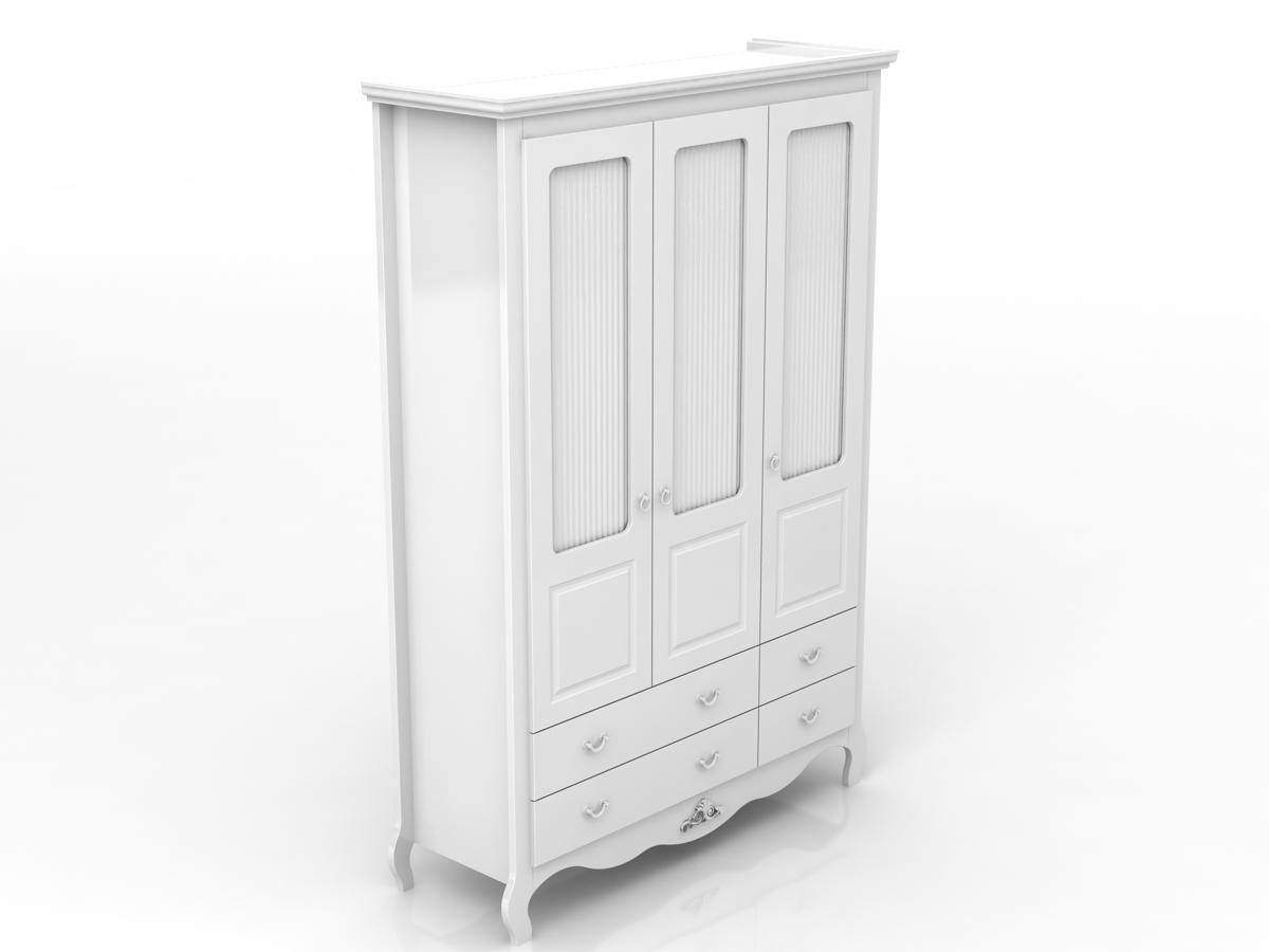 Linha Vintage - Armário 3 Portas vazadas - Branco